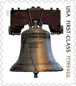 Liberty bell forever stamp